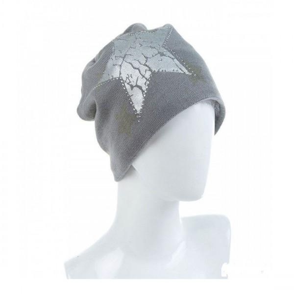 Damen Mütze Modische Beanie Glitzer Winter-Mütze Stern