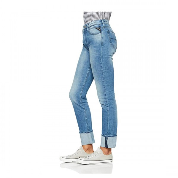 Replay Damen Jeans Jacksy Skinny Mid Waist Denim Stretch