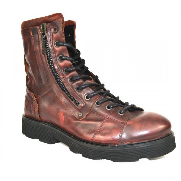 Yellow Cab Herren PISTON M Y18060 Leder Stiefel Boots Schuh Bordeaux