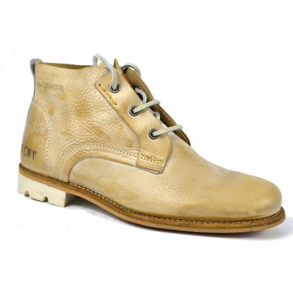 Yellow Cab Herren Staff M Taupe Leder Schuhe Stiefel Boots