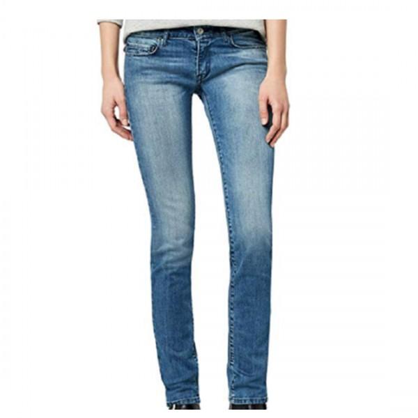 Replay Damen Skinny Slim Jeans Rose Hose blau
