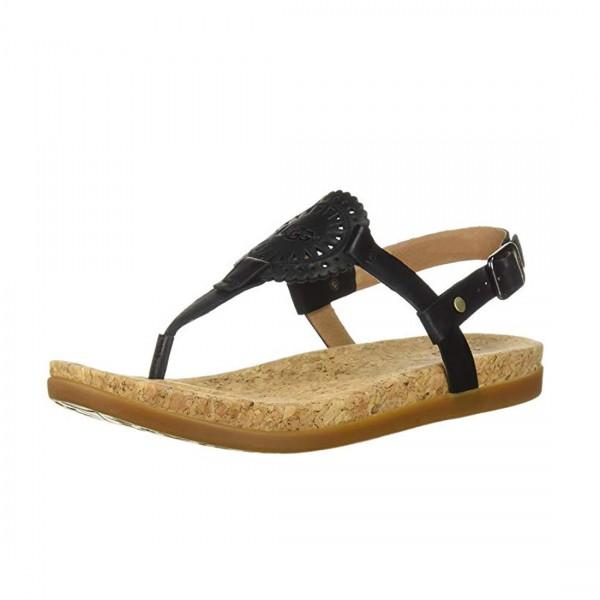 UGG® Australia Damen Ayden 2 Sandalen Zehentrenner Sandaletten Schwarz