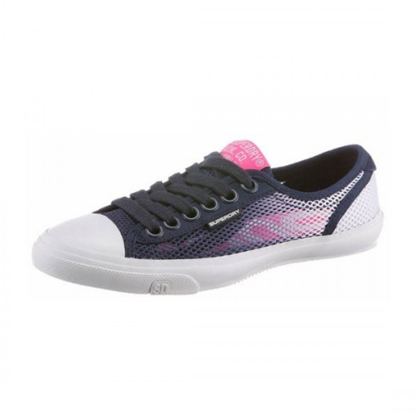 Superdry Damen Sneaker low Pro Mesh Slip On Sommer Schuhe Blau Pink