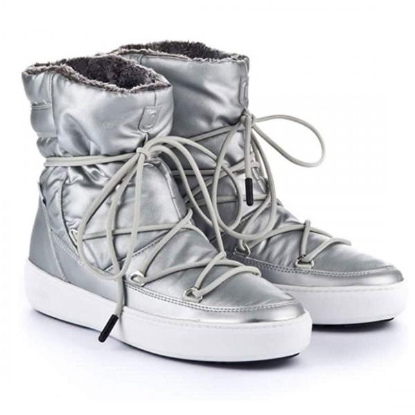 Moon Boot Damen Boots Schneestiefel Stiefel Winterschuhe Silber