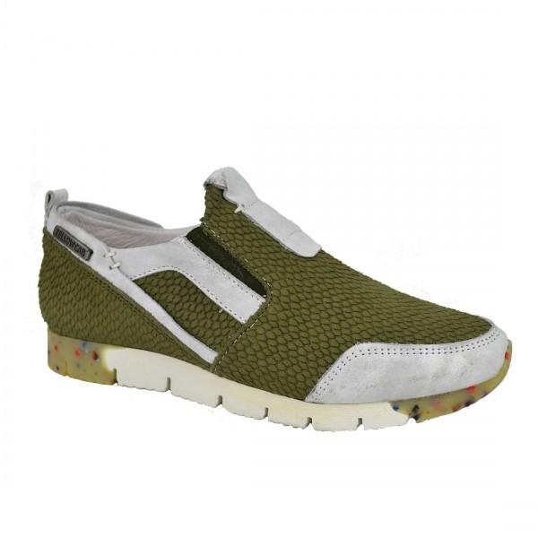 Yellow Cab Damen Sneaker TOPIC W Y23031 Leder Sneakers Slipper Schuh Green