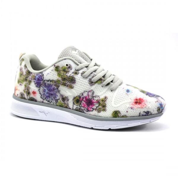 Kangaroos Damen K-Light 8003 Sneaker Schuhe Schnürschuhe Blumen