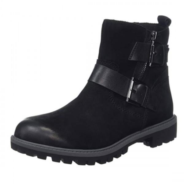 Tamaris Damen Stiefel Stiefelette Boots Combat Boots Schwarz
