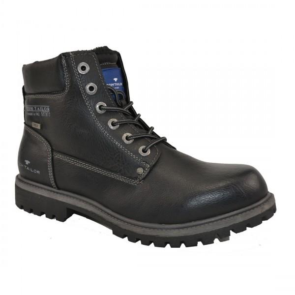 Tom Tailor Herren Stiefel Schuhe 3781001 Schnürschuhe Schuh Boots Schwarz