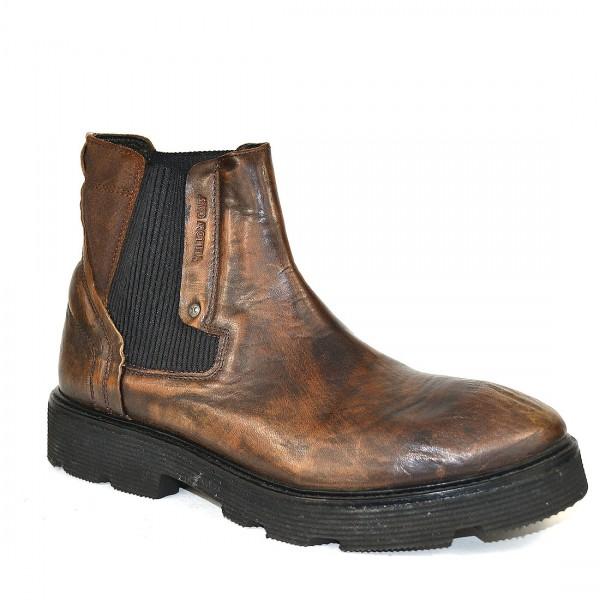 Yellow Cab Herren PISTON M Y16076 Leder Chelsea Boots Stiefel Schuh Brown