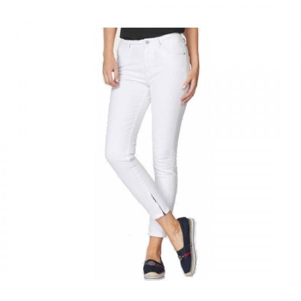 Pepe Jeans Damen Jeans Hose Cher 7/8 Hose weiß Skinny Fit Jeans