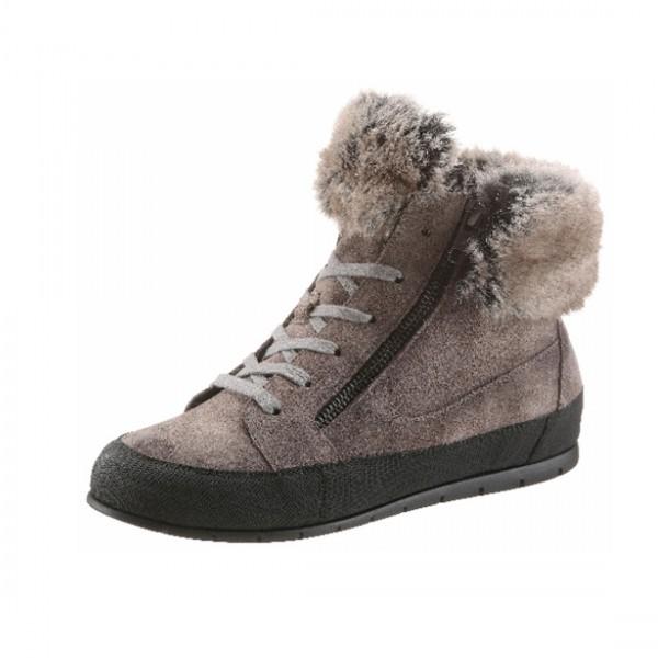 manas schuhe stiefel sneaker schnürschuhe grau damen
