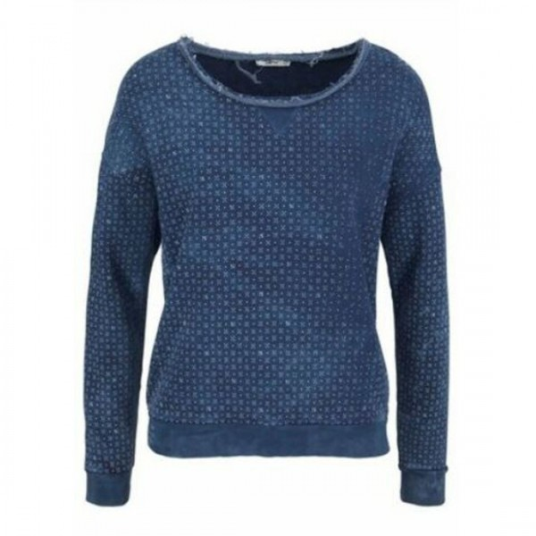 LTB Damen Sweatshirt Pullover BANIFE Blau Baumwolle
