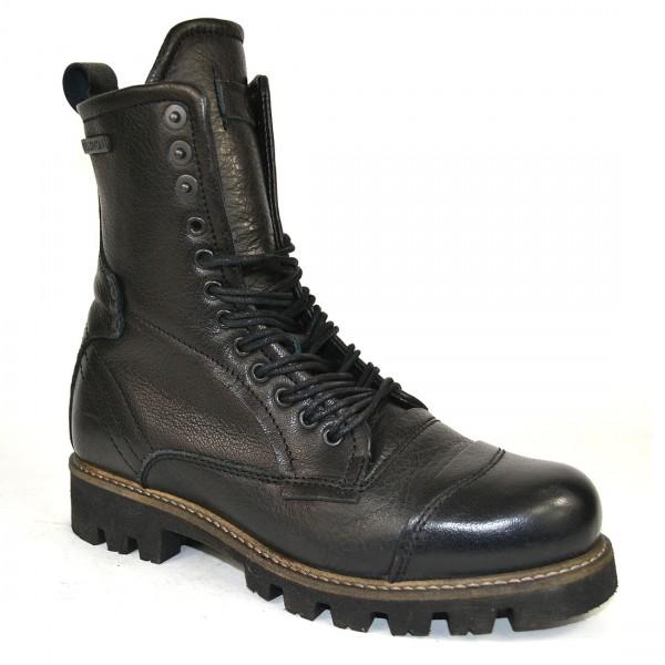 Yellow Cab Damen Military W Y28159 Leder Stiefel Biker Boots Schuh Black