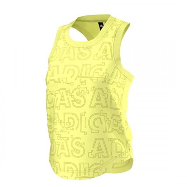 Adidas Damen Tank Top Fitness Running Sporttop Gelb