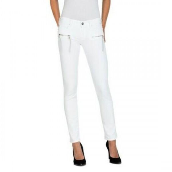 Replay Damen Skinny Jeans Hose Brigidot WA626-95B816T weiß