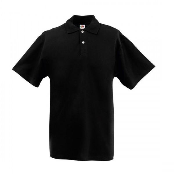 Fruit of the Loom Original Poloshirt Polo Herren Shirt T-Shirt schwarz
