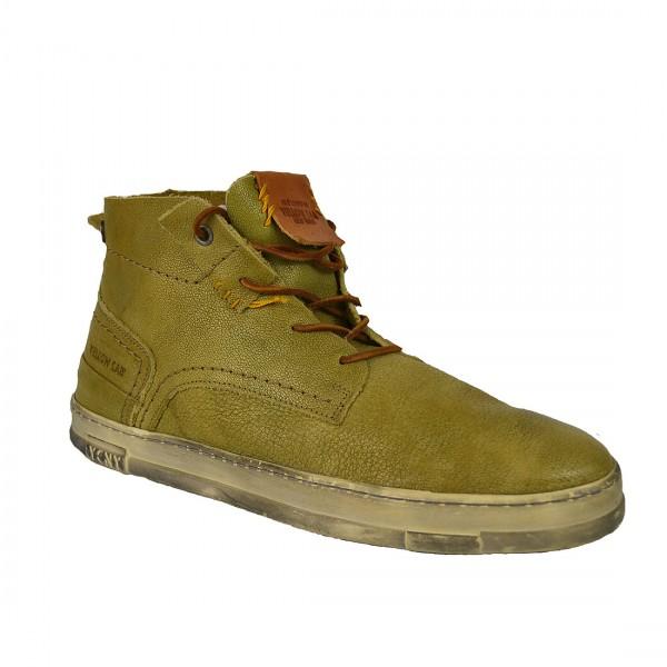 Yellow Cab SEAL M Sneakers Leder Sneaker Herren Halbschuh Olive