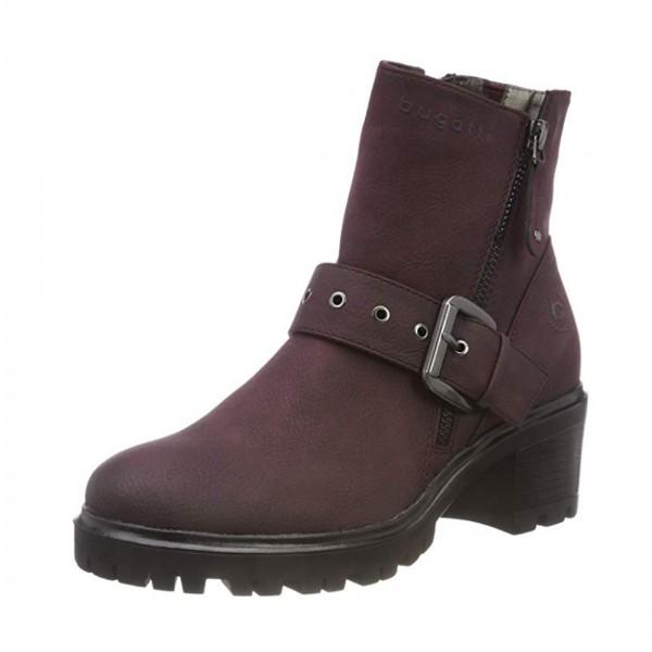 Bugatti Damen Stiefelette Boots Stiefel Schuhe bordeaux rot