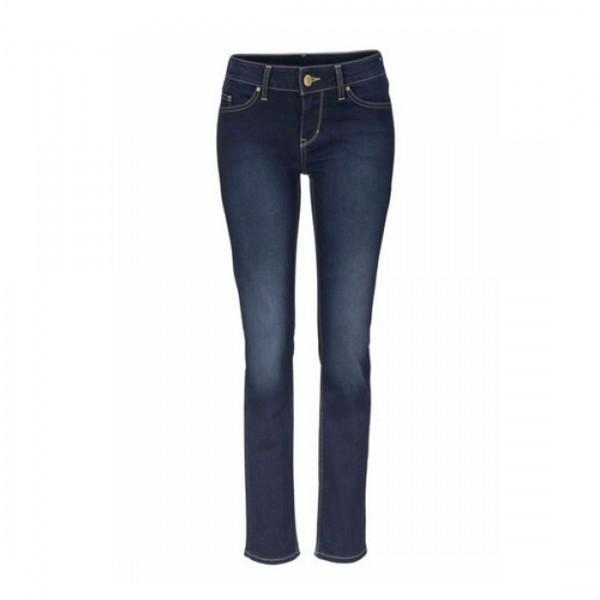 Mustang Damen Jeanshose Jasmin Slim Fit medium rise mid waist slim Leg blue Jeans