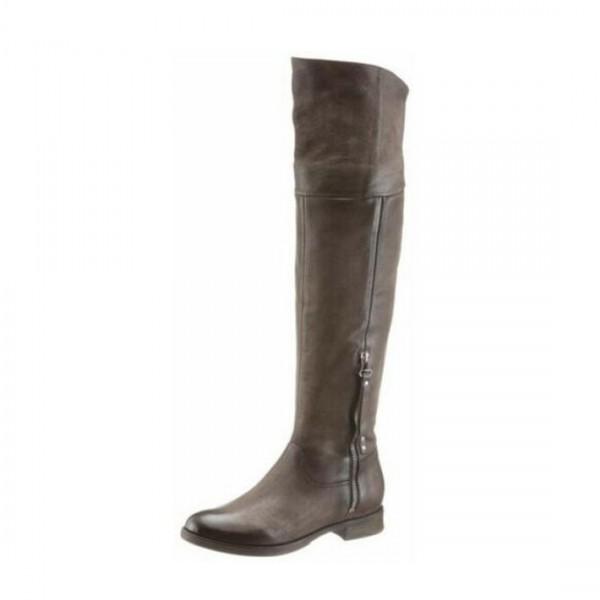 Arizona Overknees Leder Stiefel Damenstiefel Overknee Damen Boots