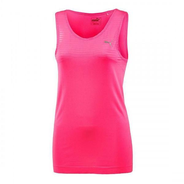Puma Damen Tennis Fitness Tanktop Shirt Evoknit Tank W Top Pink