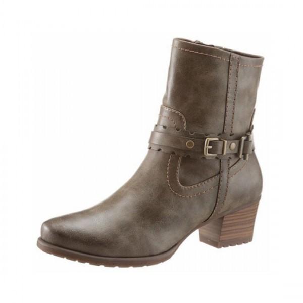 Tamaris Damen Stiefeletten Boots Stiefel Schuhe olive braun