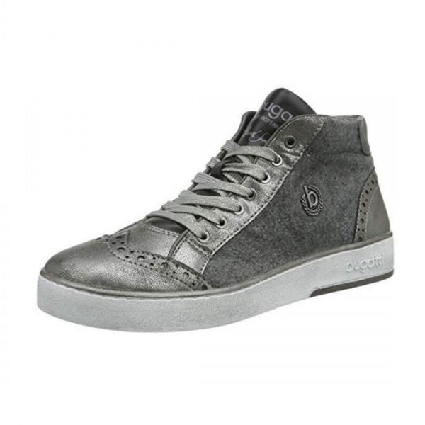 Bugatti Damen Schuhe hohe Sneaker Boots grau High Top