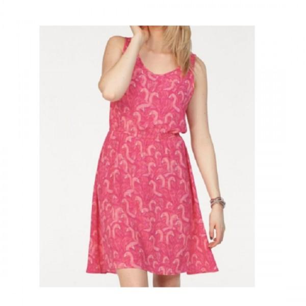 Only Damen Kleid Nova Sommer mit Flamingos Pink Rosa Kleider