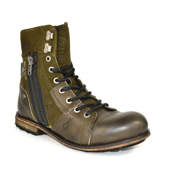 Yellow Cab INDUSTRIAL M Y18069 Leder Schuhe Boots Herren Stiefel Green Olive