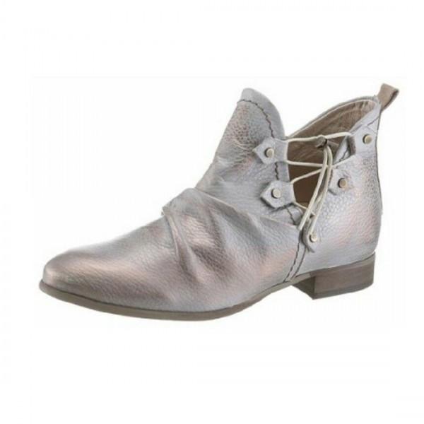 Dkode Damen Schuhe Stiefel Stiefelette Grau Leder