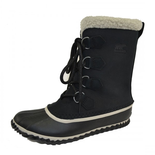Sorel Caribou Slim Damen Boots Winterschuhe Waterproof Winter Stiefel Schwarz
