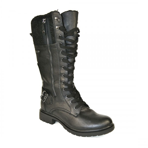 Tamaris Stiefel Damen Boots Langstiefel Fleece gefüttert Winter Knees Stiefelette