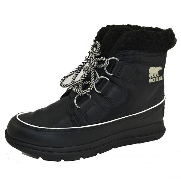 Sorel Explorer Carnival Damen Boots Stiefel Stiefeletten Winter Schuhe Schwarz