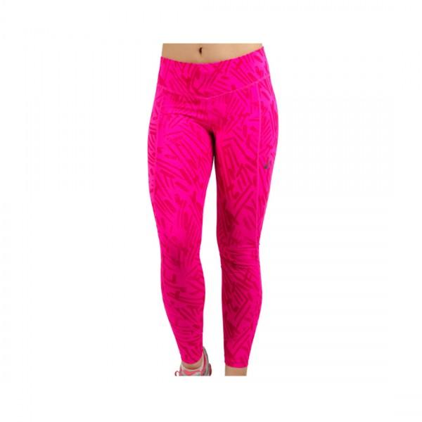 ASICS Ladies Graphic Tight Damen Laufhose 7/8 Running Pink Glow Palm