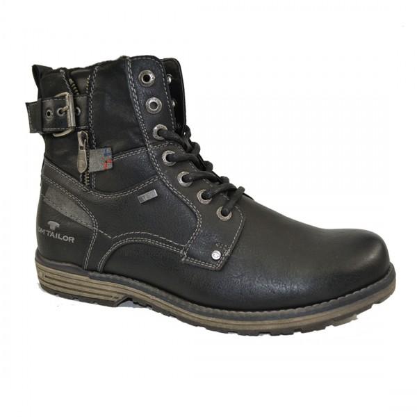 Tom Tailor Herren Stiefel Schuhe 3780806 Schnürschuhe Schuh Boots Schwarz