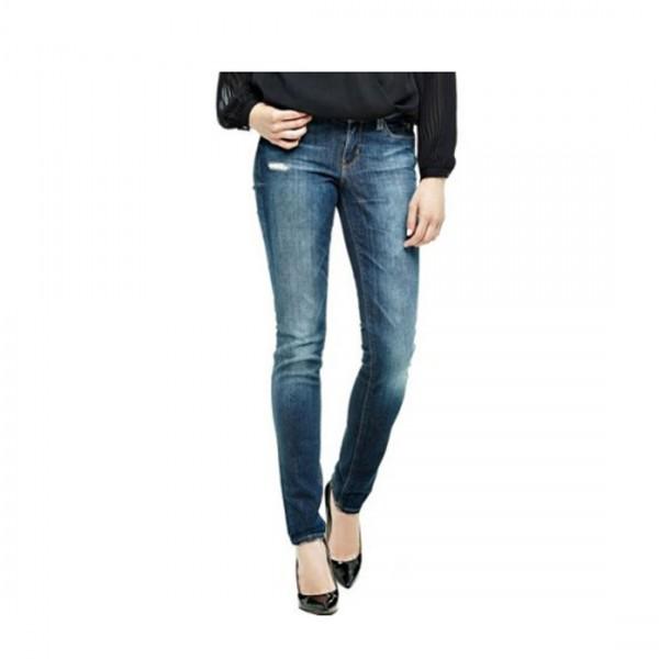Guess Damen Jeans Nicole Skinny Mid Rise Ultra Skinny