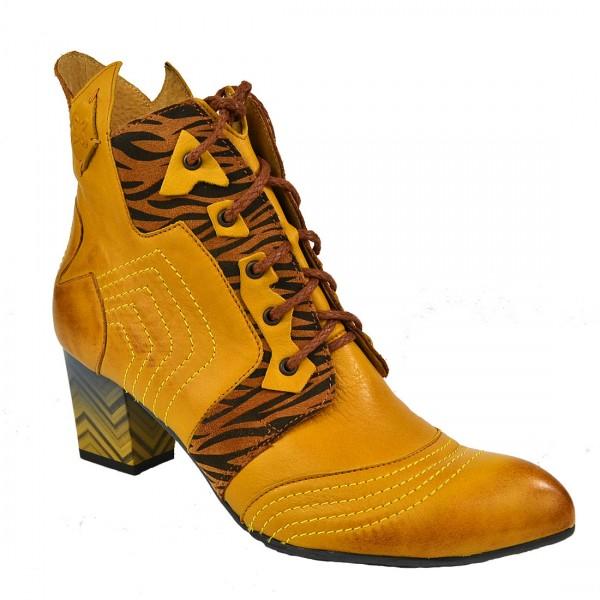 MACIEJKA Damen Leder Stiefelette Boots Stiefel Schuh Braun