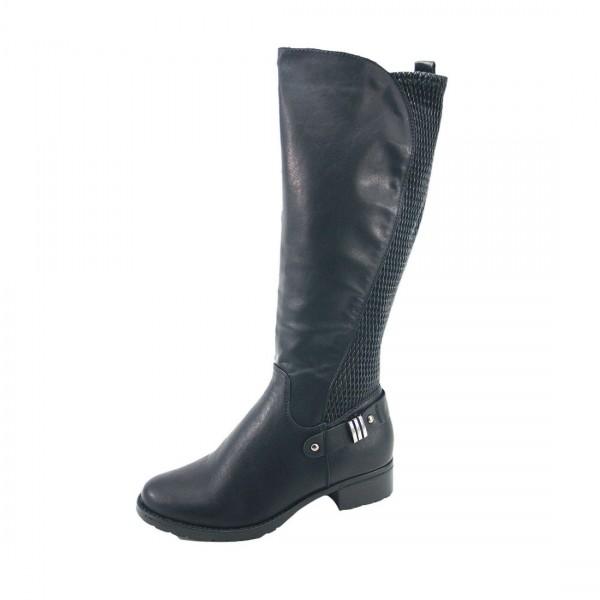 Kayla Damen Stiefelette Boots Schwarz Schuhe leicht gefüttert