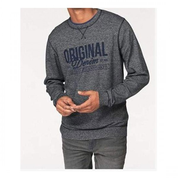 Blend Herren Pullover Sweatshirt Herren Strick Grau Blau
