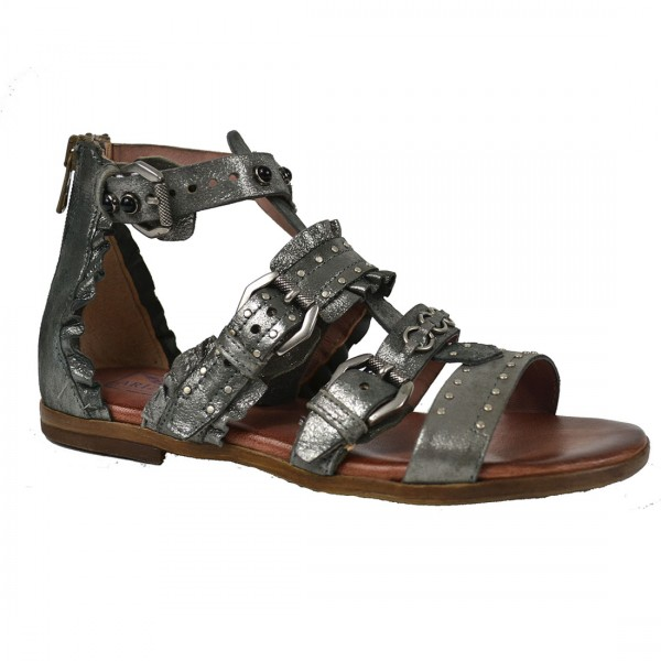 Arizona Damen Leder Sandaletten Römer Sandalen Schuh Schaftsandalen Silber