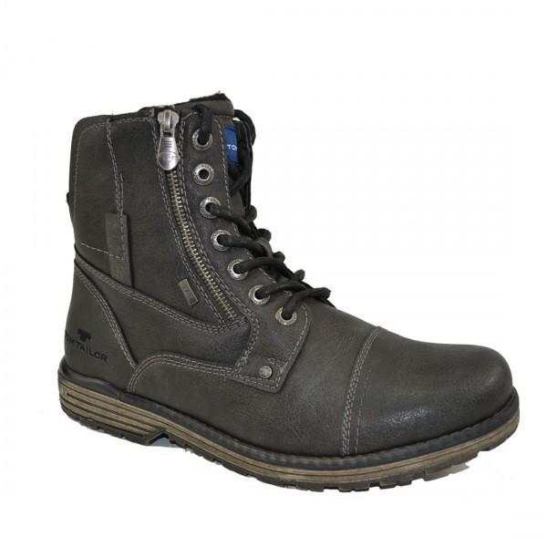 Tom Tailor Herren Stiefel Schuhe 3780801 Schnürschuhe Schuh Boots Grau