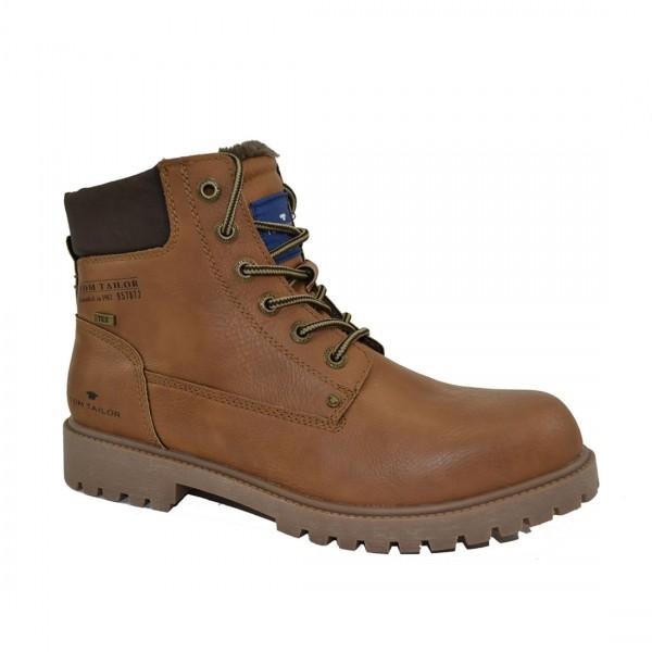 Tom Tailor Herren Stiefel Schuhe 3781001 Schnürschuhe Schuh Boots Braun