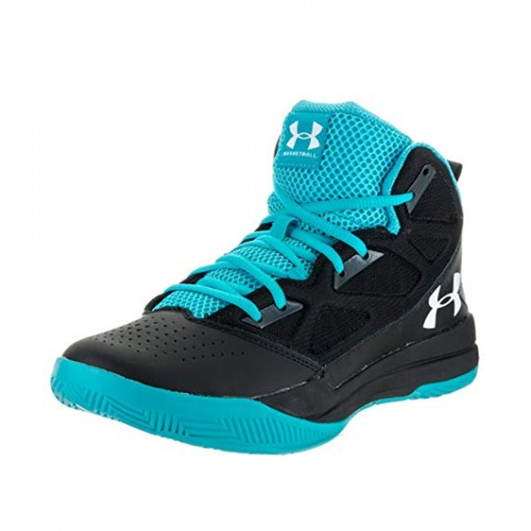 Under Armour Herren Jet Mid Basketball Schuhe Sport Sneaker Black Blue