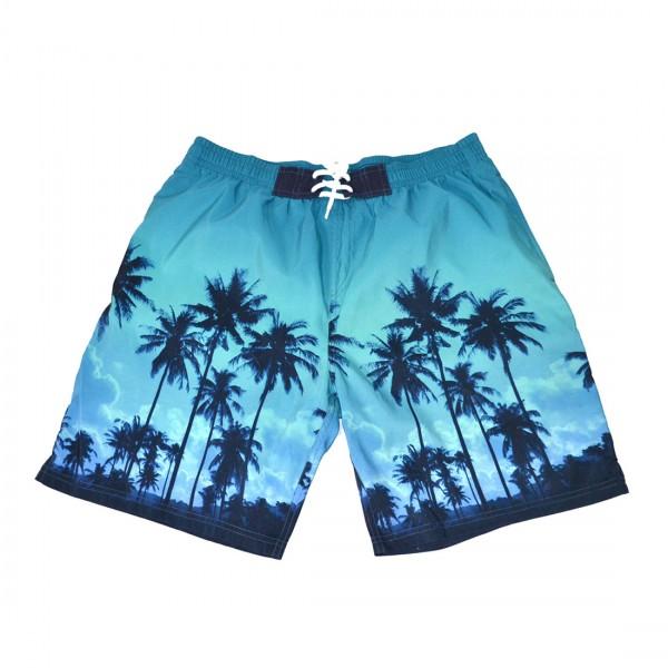 Bench Herren Boardshorts Badeshorts Schwimmshorts Shorts Blau - Grün