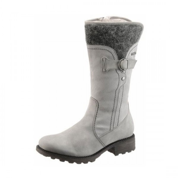 Tamaris Damen Stiefel Stiefelette Schuhe Textil Futter warm gefüttert Duo Tex grau