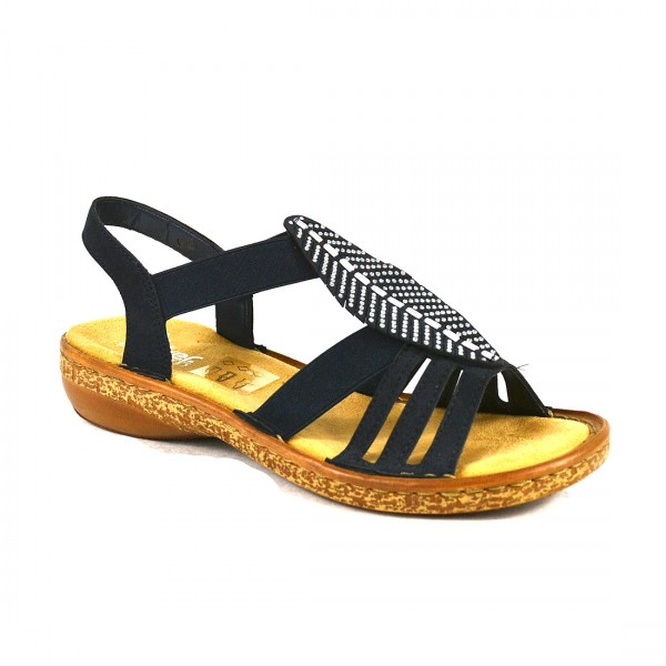 Rieker Sandalen Damen Sandalette Riemchen Sandale