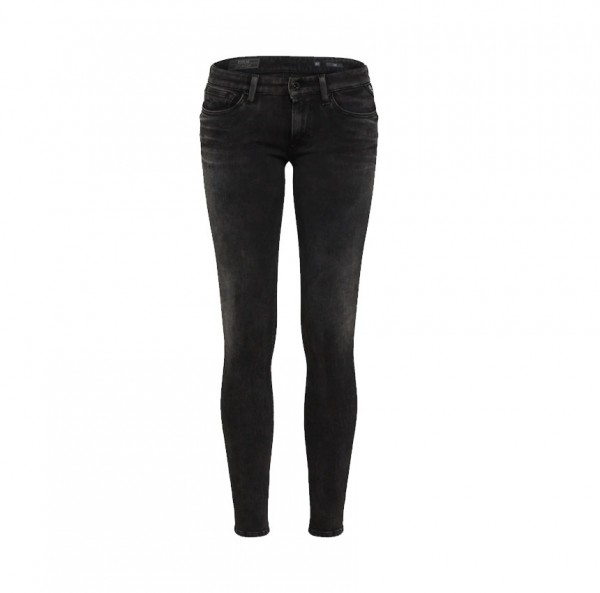 Replay Damen Hose Jeans LUZ Hyperflex™ Skinny Fit Denim schwarz
