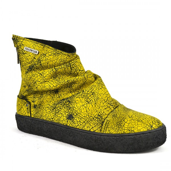Yellow Cab EXACT W Stiefelette Y26115 Leder High Sneakers Damen Schuh Yellow
