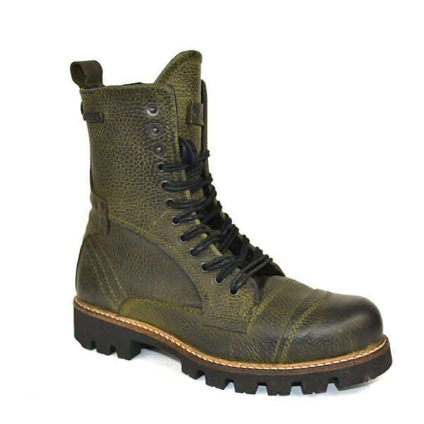 Yellow Cab Damen Military W Y28159 Leder Stiefel Biker Boots Schuh Moss
