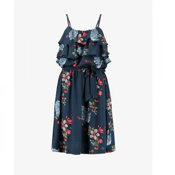 Pepe Jeans Damen Kleid Flora Sommer blau Blumen Kleider